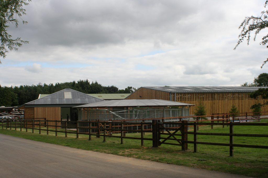 Horse walker building